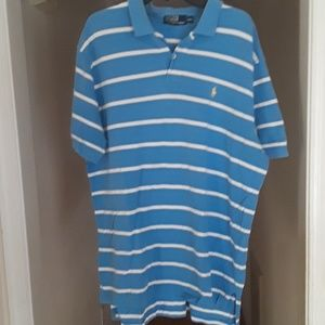 Polo blue and white shirt